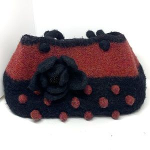 NWOT Hand Made Wool Purse AA